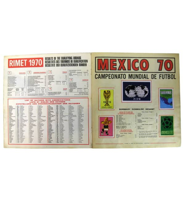 Panini Album Mexico 70 - Intro