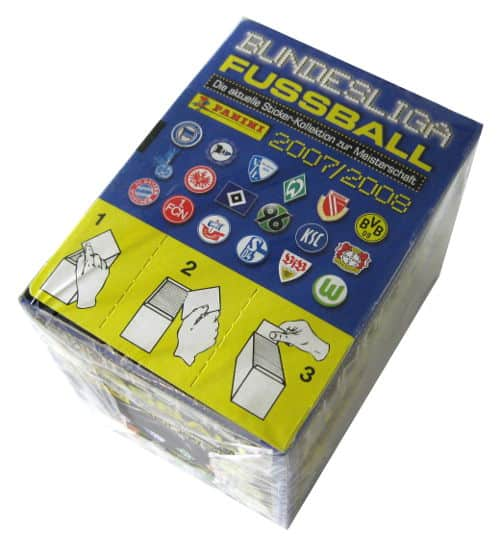 Panini Fussball 2007-2008 Box Display oben