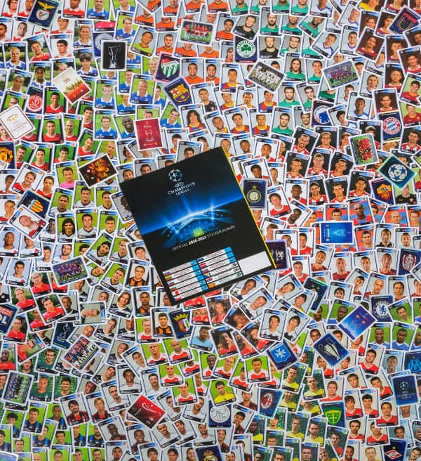 Panini Champions League 2010-2011 alle Sticker + Album Rückseite