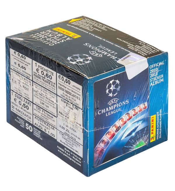 Panini Champions League 2010-2011 Display Blau - Box Seite