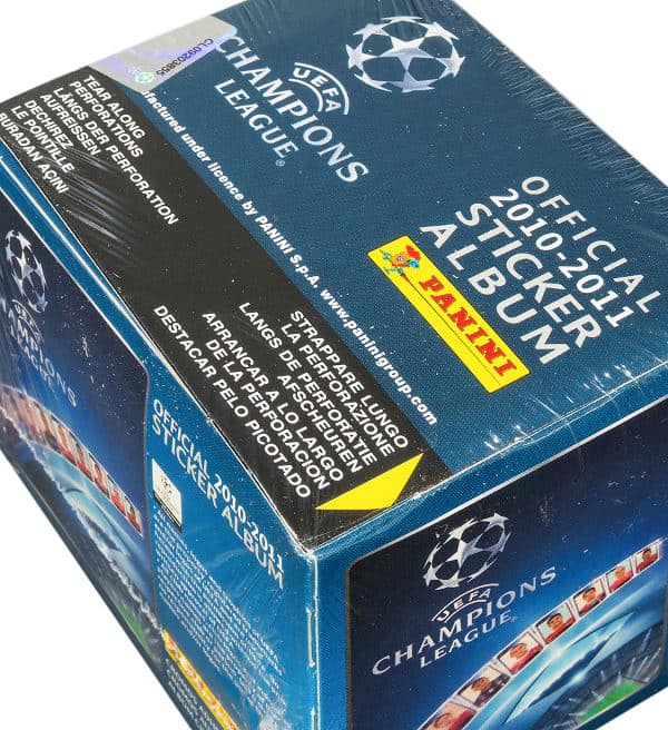 Panini Champions League 2010-2011 Display Blau - Box oben