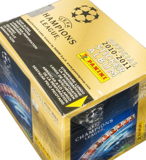 Panini Champions League 2010-2011 Display Gelb - Box oben