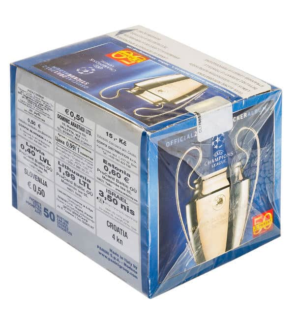 Panini Champions League 2011-2012 Display - Box Seite