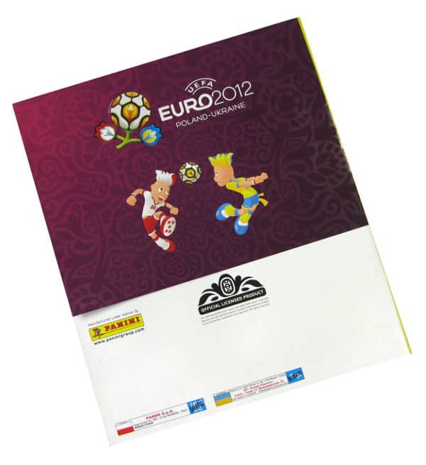 Panini Euro 2012 Album Version Polen Ukraine Rückseite