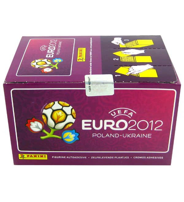 Panini Euro 2012 Lila Box mit 500 Stickern