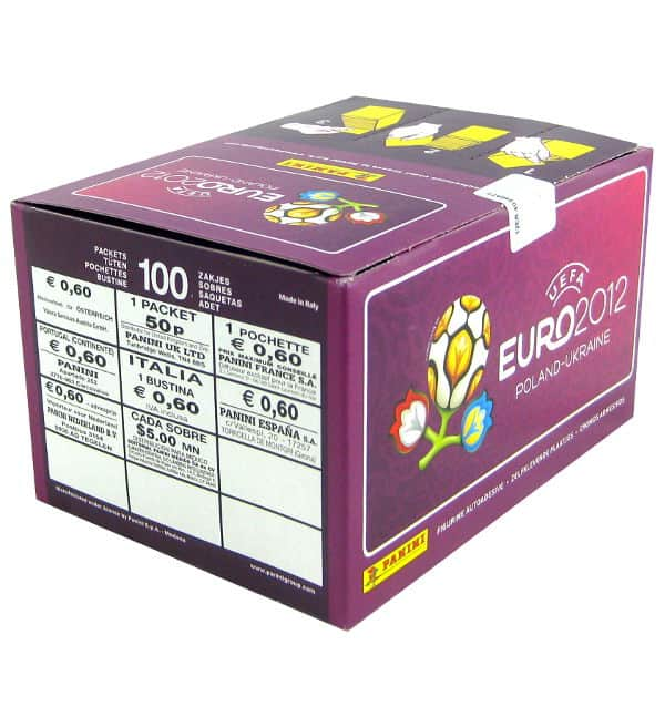 Panini Euro 2012 Lila Display mit 500 Stickern