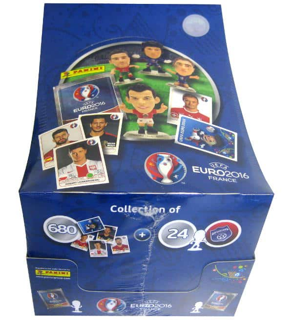Panini EURO 2016 Superstars Display mit 18 Figuren
