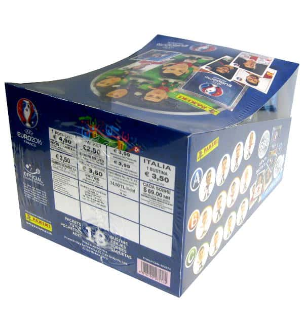 Panini EURO 2016 Superstars Figuren Box mit 18 Tüten