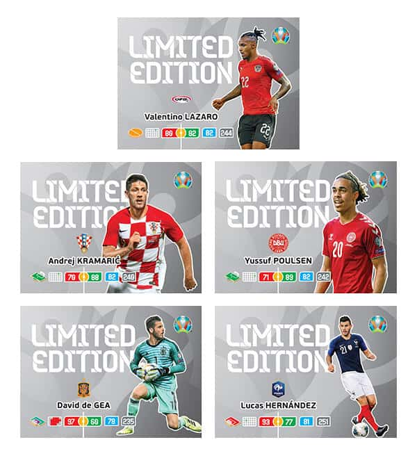 Panini EURO 2020 Adrenalyn XL Blister - Limited Edition Cards 01-05