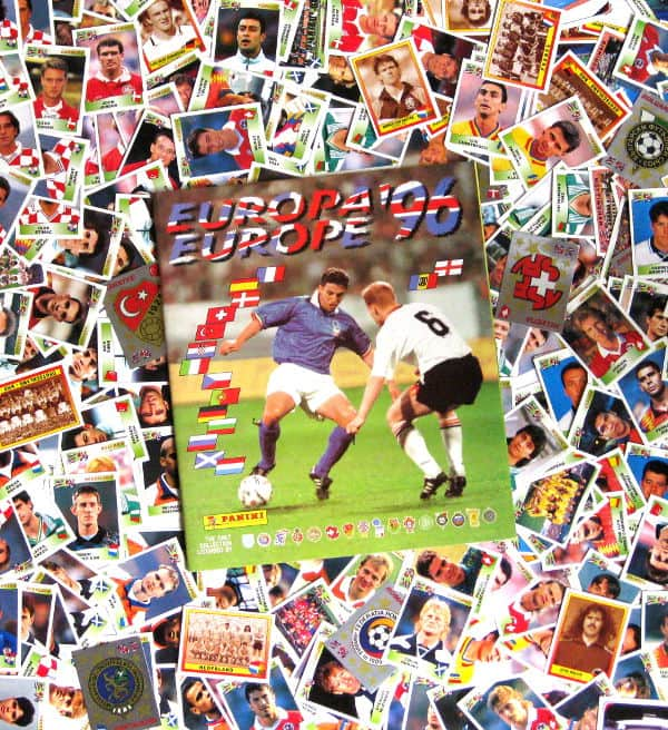 Panini Euro 96 alle 354 Sticker + Album
