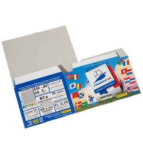 Panini WM France 98 - Display gefaltet hinten