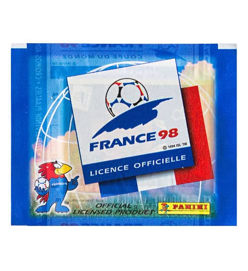 Panini WM France 98 1 Sticker-Tüte vorne