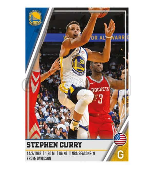 Panini NBA 2018 2019 Sticker - Stephen Curry
