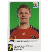 Panini WM 2010 Manuel Neuer Update Sticker