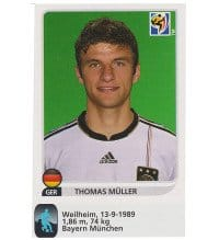 Panini WM 2010 Thomas Müller Update Sticker