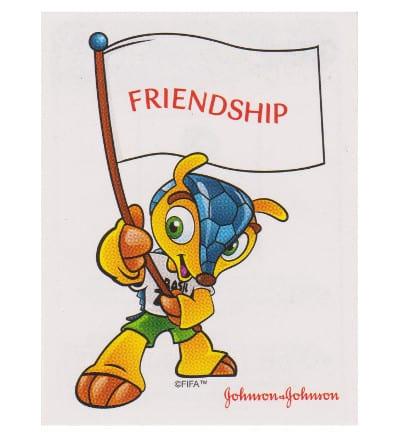 Panini WM 2014 Johnson & Johnson Sticker 642 Friendship