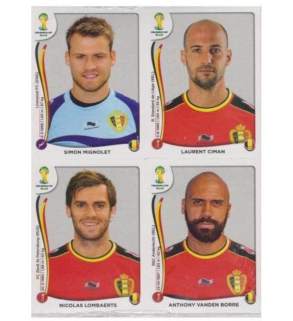 Panini WM 2014 Update Set Belgien - 84 Sticker