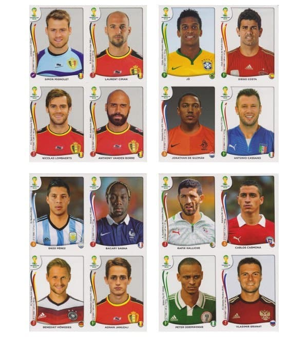 Panini WM 2014 Update Set Belgien - Bögen 1-4