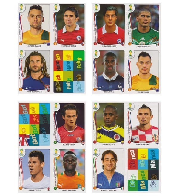 Panini WM 2014 Update Set Belgien - Bögen 13-16