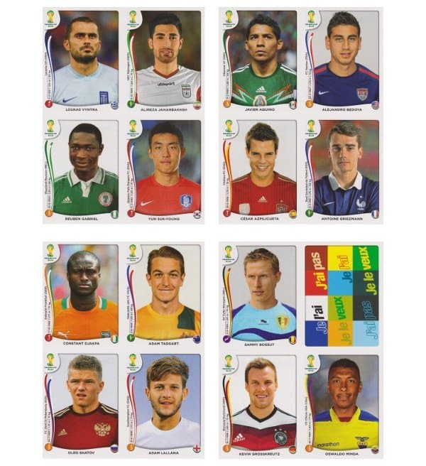 Panini WM 2014 Update Set Belgien - Bögen 17-20
