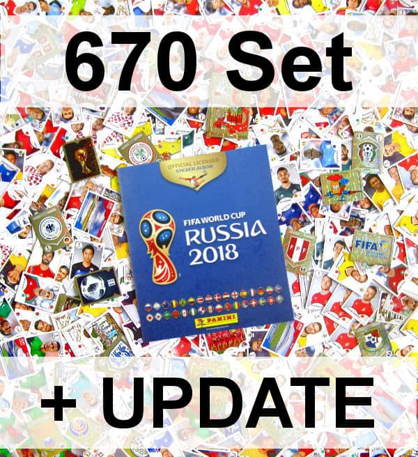 Panini WM 2018 Version 670 - Alle Sticker + Album