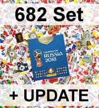 Panini WM 2018 Version 682 - Alle Sticker + Album