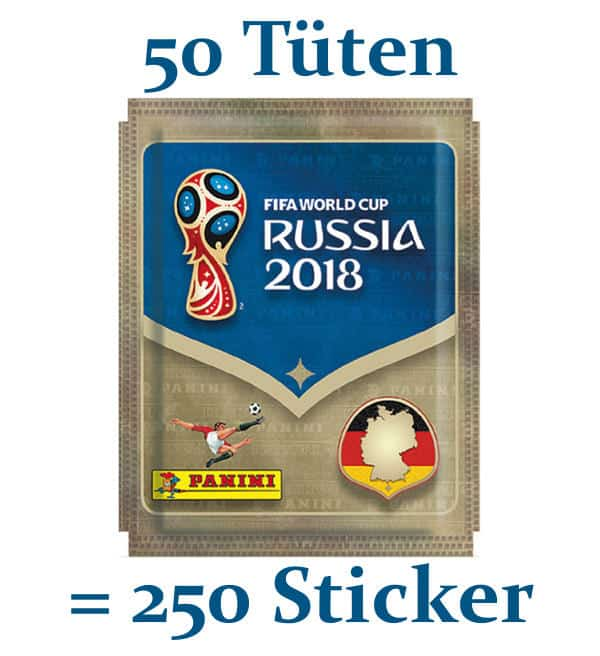 Panini WM 2018 Sticker - 50 Tüten