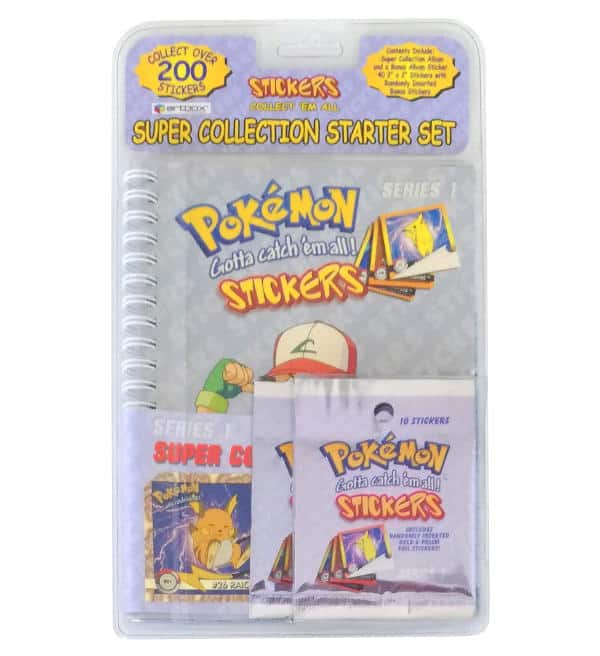 Pokemon Artbox Sticker Series 1 - Starter Set