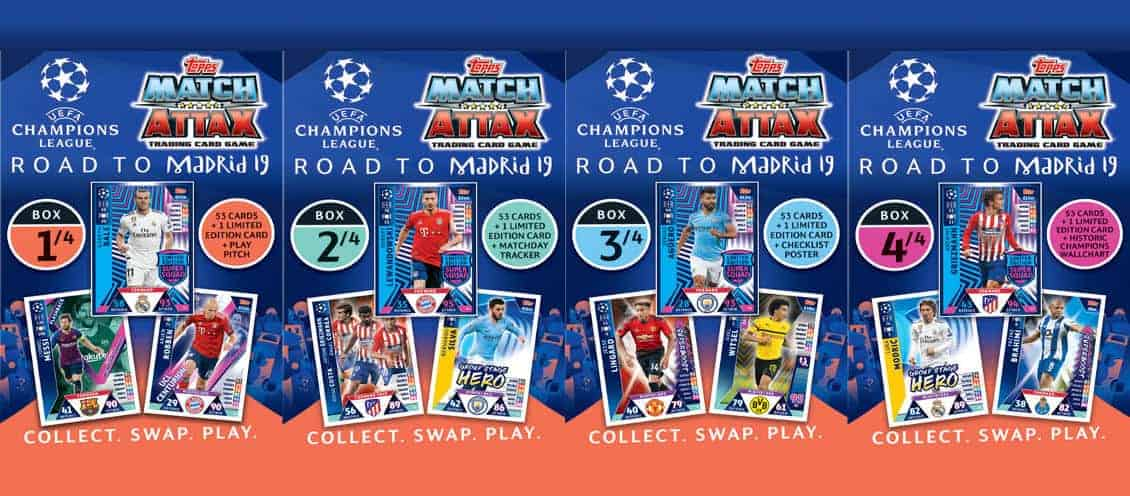 Topps Champions League Match Attax Road To Madrid 19