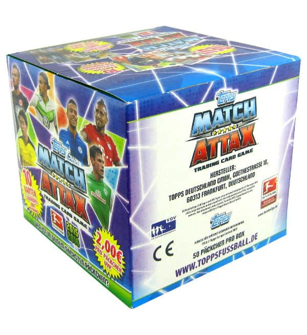 Topps Bundesliga Match Attax 2015 / 2016 - Box 500 Kartem