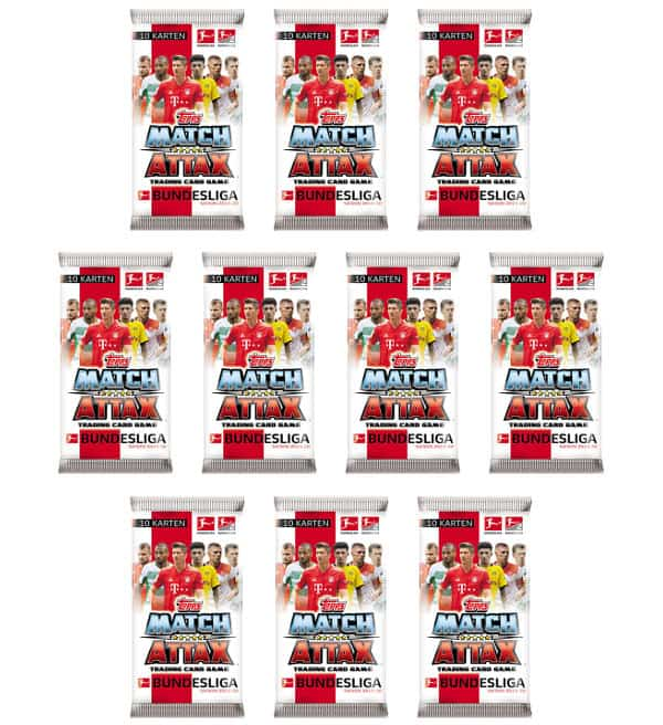 Topps Bundesliga Match Attax 2019/20 - 10 Tüten