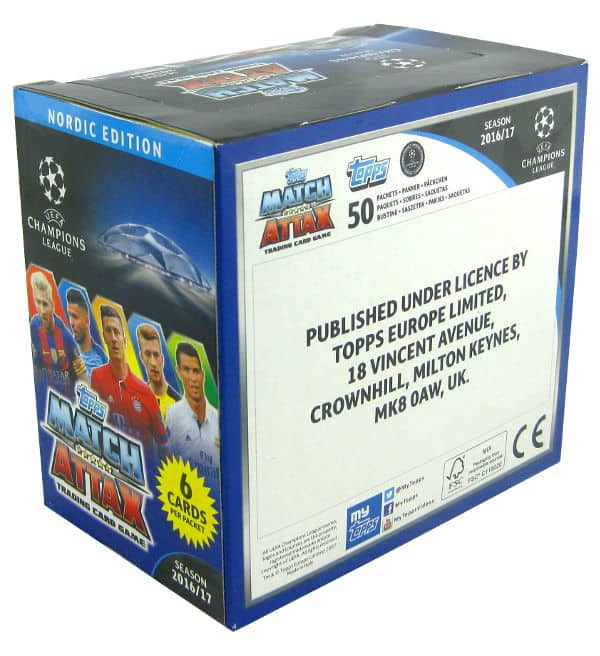 Topps CL Match Attax 2016 / 2017 Nordic Edition - Box 300 Kartem