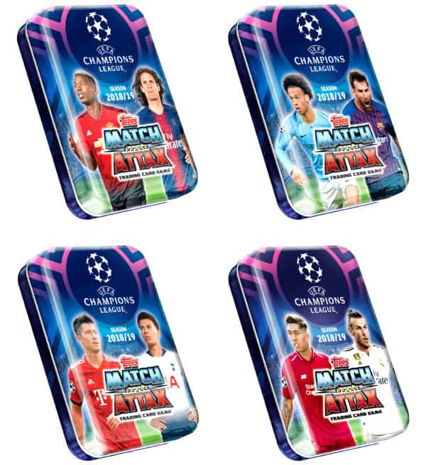 Topps Champions League Match Attax 2018 / 2019 - 4 Mini-Tins