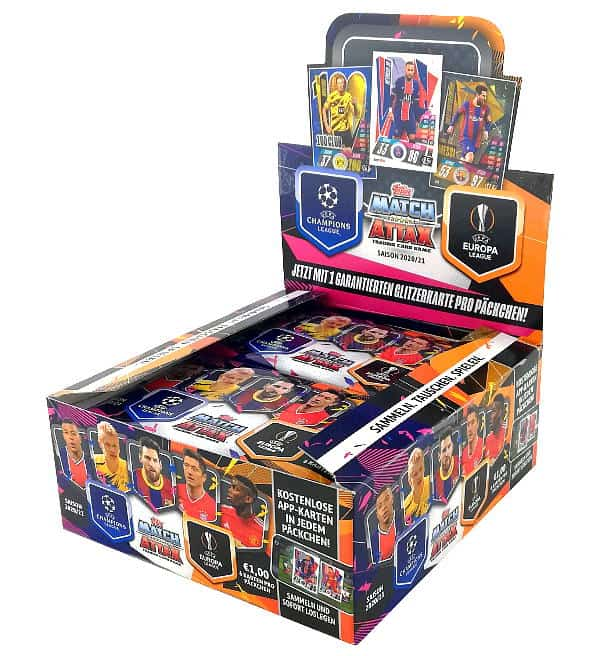 Topps Champions League Match Attax 2020/21 Display
