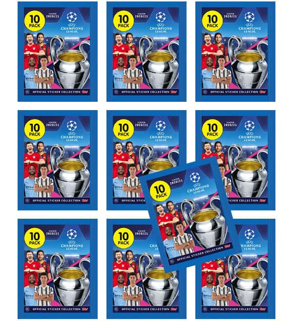 Topps Champions League Sticker 2020/2021 - 10 Tüten