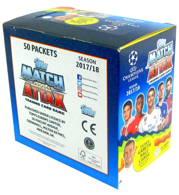 Topps CL Match Attax 2017 / 2018 Nordic Edition Box mit 300 Karten