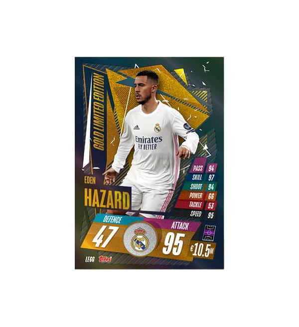 Eden Hazard Gold Limited Edition Card