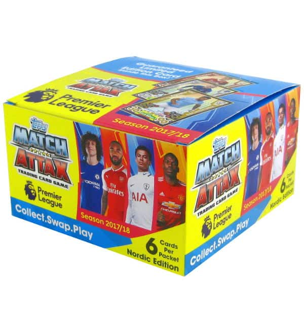 Topps PL Match Attax 2017 / 2018 Nordic Edition - Box 50 Tüten