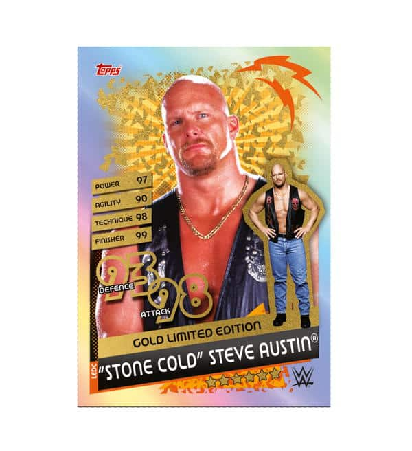 Stone Cold Steve Austin Gold Limited Edition Card